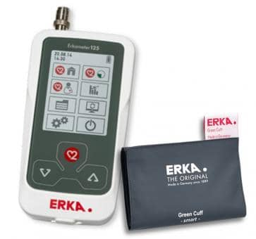 ERKA Erkameter 125 Pro Upper Arm Blood Pressure Monitor, Green Cuff Smart Rapid Size 3